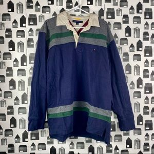 Tommy Hilfiger Striped Multicolored Collared Shirt